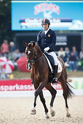 Castilla Ruiz Claudio, (ESP), Forte MG<br /> Small Final 5 years old horses<br /> World Championship Young Dressage Horses - Verden 2015<br /> © Hippo Foto - Dirk Caremans<br /> 07/08/15