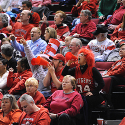 Jan 18, 2009; Piscataway, NJ, USA;  Fans cheer for Rutgers after a big offensive play during a second half time out during Rutgers' 76-53 victory over Marquette at the Louis Brown Athletic Center.