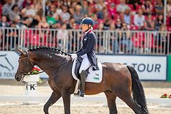 KLIMKE Ingrid (GER), Franziskus 15<br /> Münster - Turnier der Sieger 2019<br /> PRIZE OF KAPPEL HIBERNIA GmbH & Co.KG<br /> Grand Prix de Dressage <br />  Wertung zu MEGGLE Champion of Honour <br /> 01. August 2019<br /> © www.sportfotos-lafrentz.de/Stefan Lafrentz