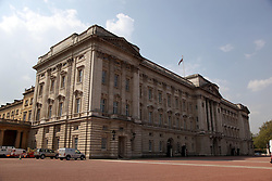 21 April 2011. London, England..Buckingham Palace in the run up to Catherine Middleton's marriage to Prince William..Photo; Charlie Varley.