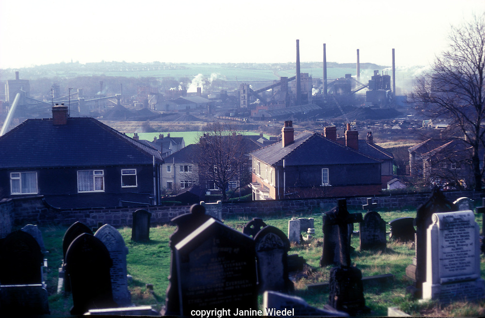 Collapse of industry in Sheffield.