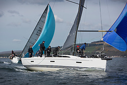 RWYC's Savills Kip Regatta  9-10th May 2015 <br /> Excellent conditions for the opening racing of the Clyde Season. <br /> <br /> Jonathan Anderson and Murray Caldwell's,  GBR8038R, Roxstar racing in Class one.<br /> <br /> Credit : Marc Turner / PFM