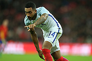 Theo Walcott of England makes a point.  England v Spain, Football international friendly at Wembley Stadium in London on Tuesday 15th November 2016.<br /> pic by John Patrick Fletcher, Andrew Orchard sports photography.