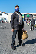 food shopper during Covid 19 crisis and lockdown France Limoux April 2020
