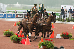 Alison Stroud, (USA), Anesco 4, Mozes, Olando, Ulco, Zenno - Driving Cones - Alltech FEI World Equestrian Games™ 2014 - Normandy, France.<br /> © Hippo Foto Team - Dirk Caremans<br /> 07/09/14