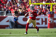 San Francisco 49ers running back Mike Davis (22) carries the ball against the Houston Texans at Levi's Stadium in Santa Clara, Calif., on August 14, 2016. (Stan Olszewski/Special to S.F. Examiner)