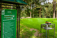 21-09-2015: Golf Resort Karlovy Vary in Karlovy Vary (Karlsbad), Tsjechië.<br /> Foto: Telefoon voor hole 19 op de 18de