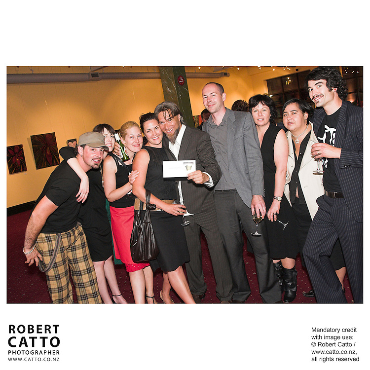 Warren Maxwell at the Arts Foundation of New Zealand New Generation Awards at the St James Theatre, Wellington, New Zealand.<br />