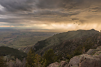 I got to the Crystal Creek Overlook just in time to watch this storm roll in off of the Bighorn Basin. I've always wanted to watch a storm from here and this one was perfect because there was no lightning occurring.