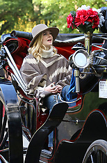Elle Fanning is all smiles on horse carriage with Timothee Chalamet - 12 Oct 2017
