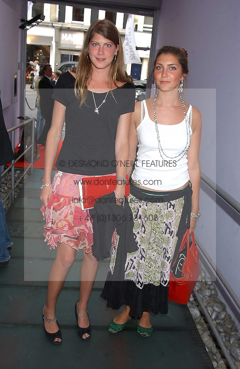 Left to right, PRINCESS FLORENCE VON PREUSSEN and PRINCESS AUGUSTA VON PREUSSEN at a polo players party hosted by AJM International Publishing and Cartier celebrating the 21st anniversary of the Cartier International Polo held at The Collection, London SW3 on 19th July 2005.<br />