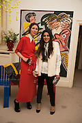 VALERIA NAPOLEONE, MEGHA MITTALL, Stefania Pramma launched her handbag brand PRAMMA  at the Kensington residence of her twin sister, art collector Valeria Napoleone.. London.  29 April 2015