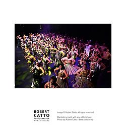 Artists including kapa haka group Te Matarae I O Rehu, Moana Maniapoto, and Whirimako Black perform in the Toi Mana Maori cultural showcase at Wellington Town Hall, as part of the New Zealand International Arts Festival 2004.