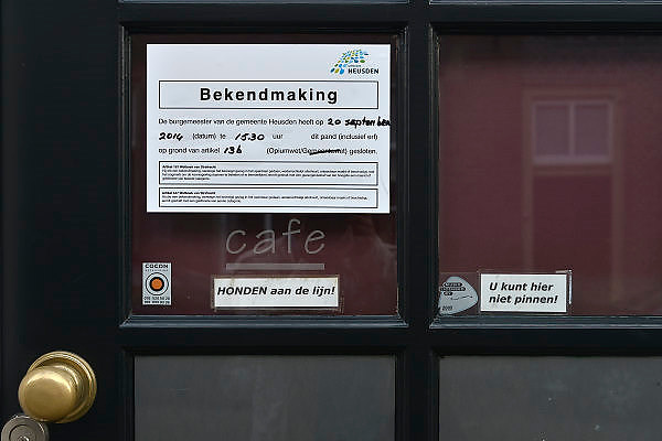 Nederland, Heusden, 18-10-2014 Een door de gemeente gesloen coffeeshop in dit brabantse stadje. FOTO: FLIP FRANSSEN/ HOLLANDSE HOOGTE