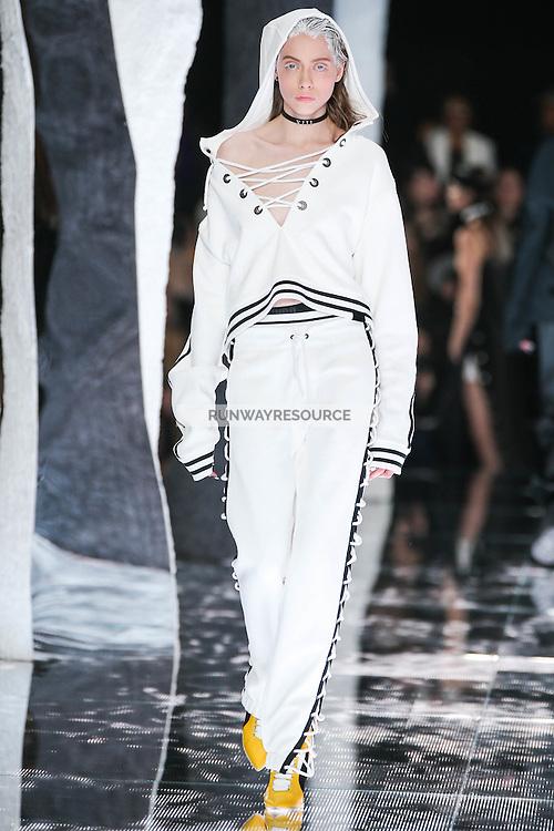 Odette Pavlova walks the runway wearing PUMA x FENTY by Rihanna Fall 2016 during New York Fashion Week on February 12, 2016