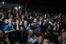 © Licensed to London News Pictures . 18/05/2016 . Accrington , UK . Lights go out during extra time . Accrington Stanley take on AFC Wimbledon at the Wham Stadium , in the 2nd leg of their League Two tie , the result from which will decide which team goes on to the final at Wembley . Photo credit : Joel Goodman/LNP
