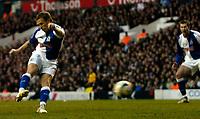 Photo: Daniel Hambury.<br />Tottenham Hotspur v Blackburn Rovers. The Barclays Premiership. 05/03/2006.<br />Blackburn's Craig Bellamy scores to make it 2-2.
