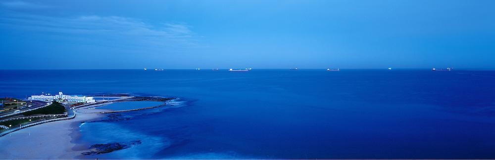 Dusk, Newcastle Beach, Australia,