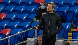 CARDIFF, WALES - Tuesday, April 13, 2021: Denmark's head coach Lars Søndergaard during a Women's International Friendly match between Wales and Denmark at the Cardiff City Stadium. (Pic by David Rawcliffe/Propaganda)