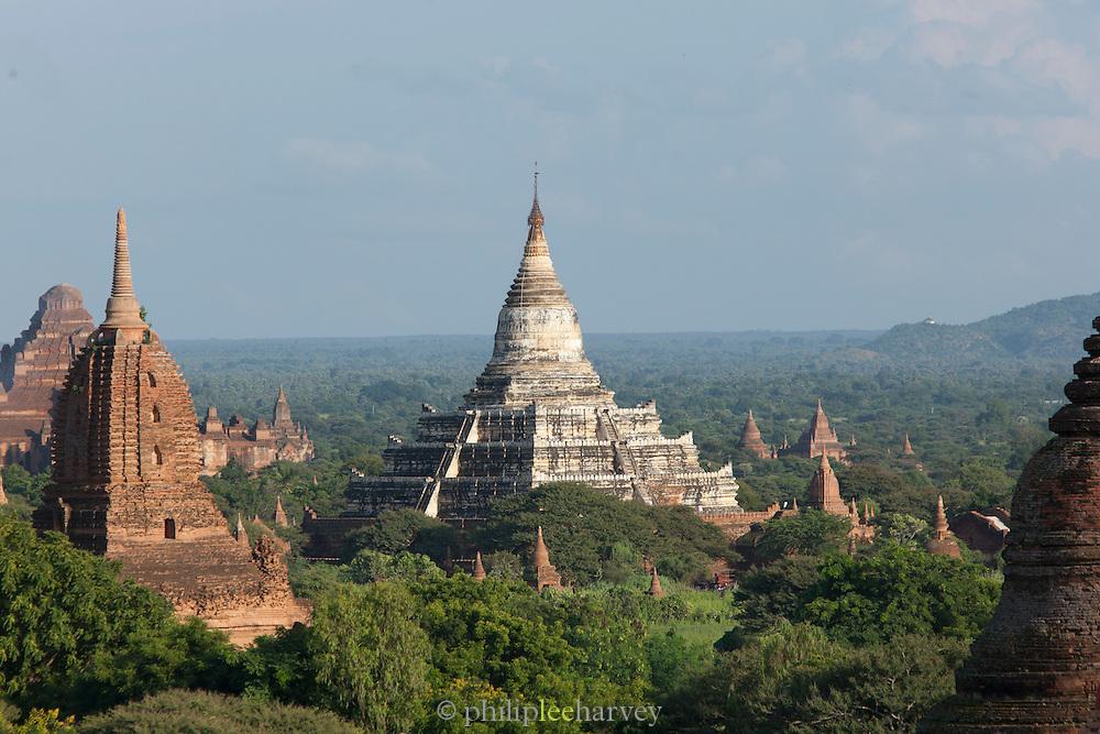 Shwesandaw pagoda (centre) at the ancient city Bagan, Myanmar