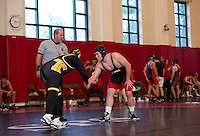 St Paul's School Wrestling with Tilton School and Exeter Academy.  ©2015 Karen Bobotas Photographer