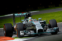 HAMILTON Lewis (Gbr) Mercedes Gp Mgp W05 action  during the 2014 Formula One World Championship, Italy Grand Prix from September 5th to 7th 2014 in Monza, Italy. Photo Eric Vargiolu / DPPI