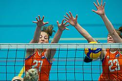 Iris Scholten of Netherlands, Eline Timmerman of Netherlands in action during the Women's friendly match between Belgium and Netherlands at Topsporthal Beveren on may 09, 2021 in Beveren, Belgium (Photo by RHF Agency/Ronald Hoogendoorn)