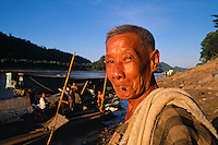 """A man on the way to taking a bath in the Mekong River in Luang Prabang, Laos, 1993<br /> Available as Fine Art Print in the following sizes:<br /> 08""""x12""""US$   100.00<br /> 10""""x15""""US$ 150.00<br /> 12""""x18""""US$ 200.00<br /> 16""""x24""""US$ 300.00<br /> 20""""x30""""US$ 500.00"""