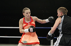 12.10.2012, Wandsbeker Sporthalle, Hamburg, GER, Universum Boxing Hamburg, im Bild Ina MENZER (Deutschland) vs Renata DOMSODI (Ungarn), Internationale Deutsche Meisterschaft , Sportler Universum Boxen Sport Deutschland Spotlight Halbschwergewicht // during Universum Boxing Hamburg at the Wandsbeker Sporthalle, Hamburg, Germany on 2012/10/12. EXPA Pictures © 2012, PhotoCredit: EXPA/ Eibner/ Andre Latendorf..***** ATTENTION - OUT OF GER *****