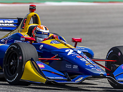 March 22, 2019 - Austin, Texas, U.S. - ALEXANDER ROSSI (27) of the United States goes through the turns during practice for the INDYCAR Classic at Circuit Of The Americas in Austin, Texas. (Credit Image: © Walter G Arce Sr Asp Inc/ASP)