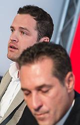 11.03.2014, Medienzentrum, Wien, AUT, FPOe, Pressekonferenz zum Thema: Mariahilfer Strasse. im Bild v.l.n.r. FPOe Klubchef Wien Mag. Johann Gudenus und Landesparteiobmann FPOe Wien Heinz-Christian Strache // during FPOe press conference about Mariahilferstrasse at Media Center in Vienna, Austria on 2014/03/11. EXPA Pictures © 2014, PhotoCredit: EXPA/ Michael Gruber