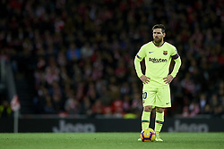 February 10, 2019 - Bilbao, Vizcaya, Spain - Lionel Messi of Barcelona during the week 23 of La Liga between Athletic Club and FC Barcelona at San Mames stadium on February 10 2019 in Bilbao, Spain. (Credit Image: © Jose Breton/NurPhoto via ZUMA Press)
