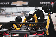 March 20, 2021. IMSA Weathertech Mobil 1 12 hours of Sebring: #4 Corvette Racing Corvette C8.R, GTLM: mechanics