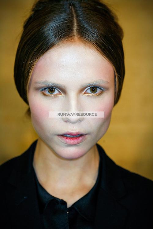 Natasha Poly Backstage at Christian Dior Couture Fall 2007