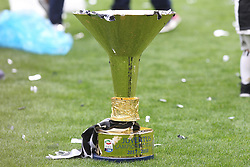 May 19, 2018 - Turin, Piedmont, Italy - The Scudetto Cup 2017-2018 won by Juventus on the day of his last match with Juventus, at the Allianz stadium on May 19, 2018 in Turin, Italy. (Credit Image: © Massimiliano Ferraro/NurPhoto via ZUMA Press)
