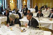 Professional Wine tasting at hotel George V, Paris.