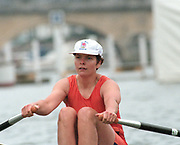 Henley. United Kingdom. GBR W1X, Patricia [Tish] REID, competing in the Princess Royal Sculls Challenge and the FISA World Cup event. Men and Women's single Sculls at the 1995 Henley Royal Regatta. Henley Reach, England.<br /> <br /> {Mandatory Credit: Peter SPURRIER/Intersport Images]