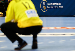 Feature during handball match between National Teams of Algeria and Germany at Day 3 of IHF Men's Tokyo Olympic  Qualification tournament, on March 14, 2021 in Max-Schmeling-Halle, Berlin, Germany. Photo by Vid Ponikvar / Sportida