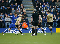 Photo: Steve Bond/Richard Lane Photography. Leicester City v Huddersfield Town. Coca Cola League One. 24/01/2009. Keigan Parker (2nd L) puts Huddersfield back in front