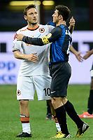 Francesco Totti Roma Javier Zanetti Inter.Milano 17/04/2013 Stadio San Siro Giuseppe Meazza .Football Calcio Coppa Italia Semifinale .Inter Roma 2-3 .foto Daniele Buffa/Image Sport/Insidefoto.