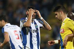 March 10, 2017 - Arouca, Aveiro, Portugal - Porto's Brazilian forward Soares reacts during Premier League 2016/17 match between FC Arouca and FC Porto, at Municipal de Arouca Stadium in Arouca on March 10, 2017. (Credit Image: © Dpi/NurPhoto via ZUMA Press)