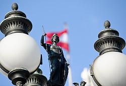 THEMENBILD - Wiener Eistraum, Eislaufen am Rathausplatz in Wien, das Bild wurde am 25. Jaenner 2012 aufgebommen, im Bild Feature Laterne, AUT, EXPA Pictures © 2012, PhotoCredit: EXPA/ M. Gruber