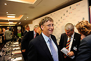 Bill Gates meeting delegates as Global leaders gather for the Gavi Alliance conference to drive a new, forceful impetus to immunisation efforts in the world's poorest countries on 13th June 2016 in London, United Kingdom. Gavi, the Vaccine Alliance is a public-private global health partnership committed to increasing access to immunisation in poor countries. The organisation brings together developing country and donor governments, the World Health Organization, UNICEF, the World Bank, the vaccine industry in both industrialised and developing countries, research and technical agencies, civil society, the Bill & Melinda Gates Foundation and other private philanthropists.
