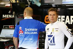 November 3, 2018 - Ft. Worth, Texas, United States of America - Jamie McMurray (1) hangs out in the garage during practice for the AAA Texas 500 at Texas Motor Speedway in Ft. Worth, Texas. (Credit Image: © Justin R. Noe Asp Inc/ASP via ZUMA Wire)