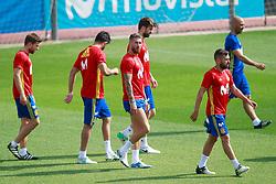 Spain's Asier Illarramendi, Diego Costa, Sergio Ramos, Gerard Pique and Jordi Alba during training session. June 9,2017. Photo by Acero/Alterphotos/ABACAPRESS.COM