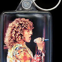 Roger Daltrey - Key Fob with image approx. 35mm x 50mm from 1970 Isle of Wight Music Festival exhibition on the front. The reverse has an exclusive CameronLife  1970 IW festival design