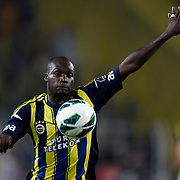 Fenerbahce's Moussa Sow during their Turkish Superleague soccer derby match Fenerbahce between Trabzonspor at the Sukru Saracaoglu stadium in Istanbul Turkey on Monday 24 September 2012. Photo by TURKPIX