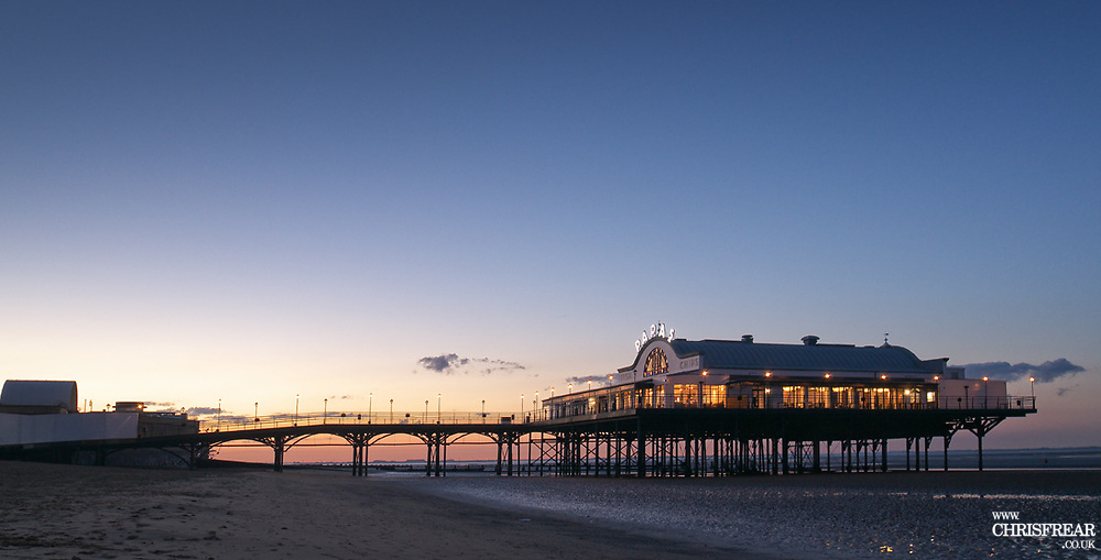 Cleethorpes pier at Dusk on the 22nd July 2017