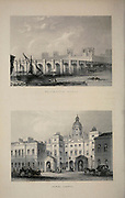 London Westminster Bridge [top] Horse Guards [bottom] From the book Illustrated London, or a series of views in the British metropolis and its vicinity, engraved by Albert Henry Payne, from original drawings. The historical, topographical and miscellanious notices by Bicknell, W. I; Payne, A. H. (Albert Henry), 1812-1902 Published in London in 1846 by E.T. Brain & Co