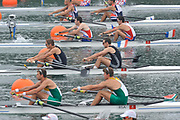Shunyi, CHINA.  Men's Pairs, semi final A/B,  NZL M2-, (b) TWADDLE Nathan and BRIDGEWATER George, at the 2008 Olympic Regatta, Shunyi Rowing Course. Wed 14.08.2008 [Mandatory Credit: Peter SPURRIER, Intersport Images]